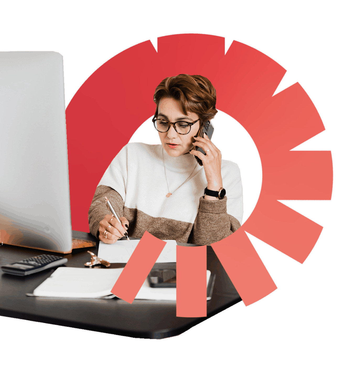 Une femme délègue ses tâches administratives